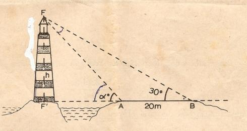 Figura Prova escrita de Matemática do 3.º Ciclo do Ensino Liceal, 2.ª chamada, 1968